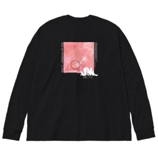 10周年 Big silhouette long sleeve T-shirts