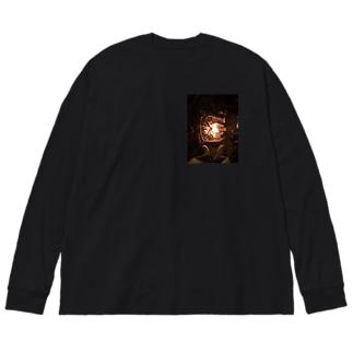 円焔 Big silhouette long sleeve T-shirts