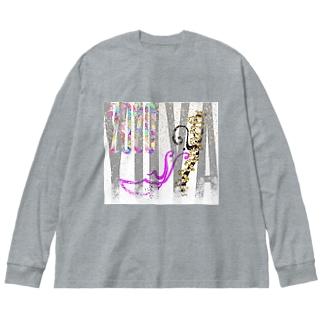 ゆうや佑哉ビッグシルエットロンT2020秋冬デザイン Big Silhouette Long Sleeve T-Shirt