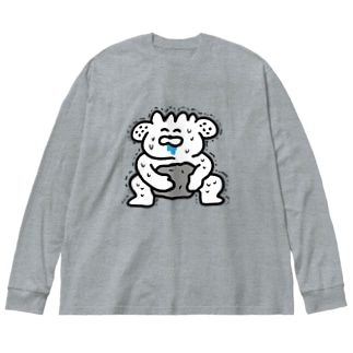 力自慢 Big silhouette long sleeve T-shirts