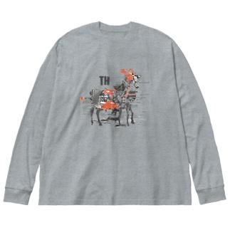 シマウマ Big silhouette long sleeve T-shirts