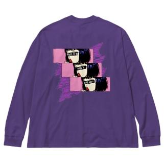【X obscene X】 Big silhouette long sleeve T-shirts
