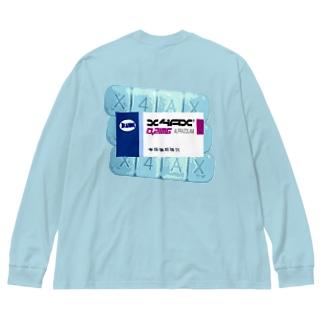 【X NUKENAI民剤 X】 #2 Big silhouette long sleeve T-shirts
