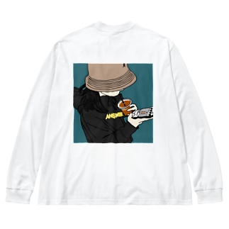 バケハgirl  Big silhouette long sleeve T-shirts