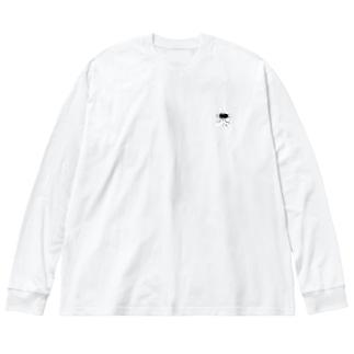 タジャの食欲うさちゃん Big silhouette long sleeve T-shirts