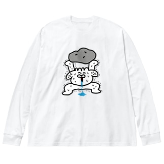 馬鹿力 Big silhouette long sleeve T-shirts