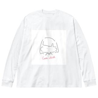 Cute child Big silhouette long sleeve T-shirts