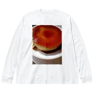バケツプリン Big silhouette long sleeve T-shirts