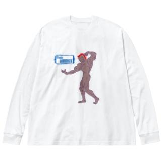 #001 Big silhouette long sleeve T-shirts