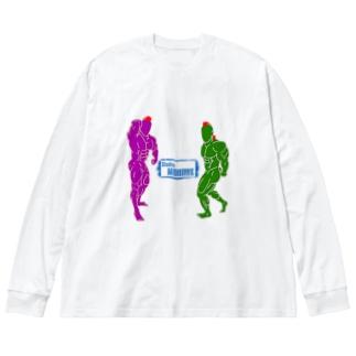 #003 Big silhouette long sleeve T-shirts