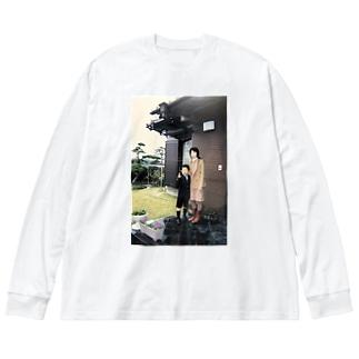 バチ決まり Big silhouette long sleeve T-shirts