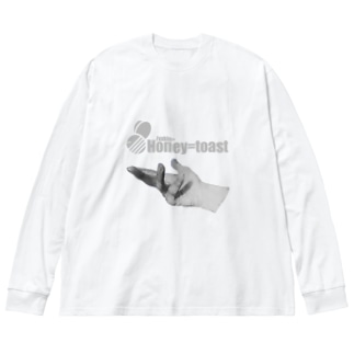 Fxxkin+ Honey=toast Big silhouette long sleeve T-shirts