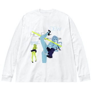 Lovely Elastic Dummy 02 やわらかいポーズ   Big silhouette long sleeve T-shirts
