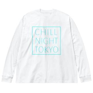CNT square  logo / Tiffany  blue Big silhouette long sleeve T-shirts