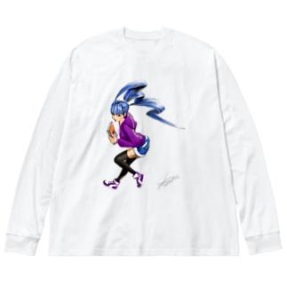 maimai Big silhouette long sleeve T-shirts