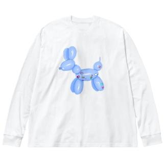 犬 Big silhouette long sleeve T-shirts