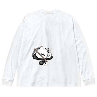 ワン太フルのTシャツ屋さんのありんこ君 つるはし Big silhouette long sleeve T-shirts
