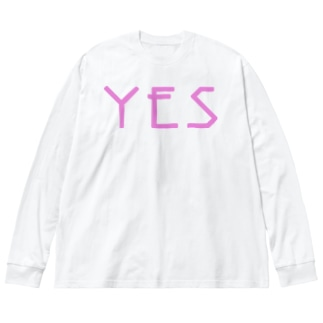 YES NO ロンTee Big silhouette long sleeve T-shirts