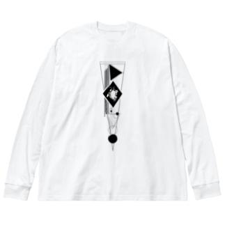 robot Big Silhouette Long Sleeve T-Shirt