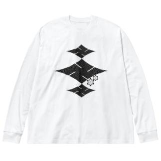 楼卍(ロマン)の黒 Big Silhouette Long Sleeve T-Shirt