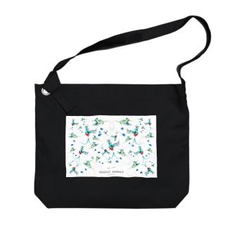 グラフィックアニマルズのmizusawa model Big shoulder bags