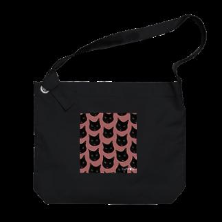 Hakubeiのシッポの🐱ゆいちゃんぺ(ドット柄ピンク) Big shoulder bags