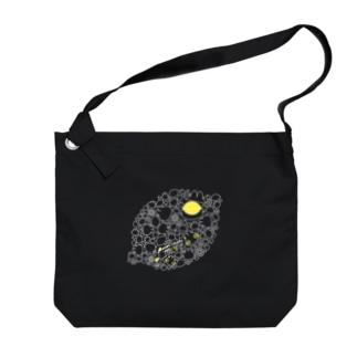 リモーネちゃんレモンいっぱい(ホワイトライン) Big Shoulder Bag