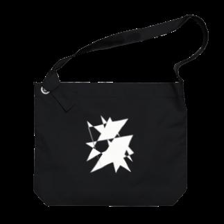 YURURIのホワイトプリズム Big shoulder bags