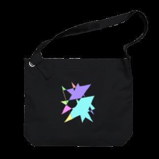 YURURIのプリズム(パステル) Big shoulder bags
