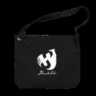 Shinsuke Sada Goods ShopのSHINSUKE SADA オフィシャルロゴグッズ 反転色 Big shoulder bags