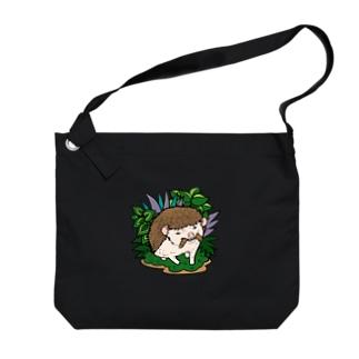 虫食いハリネズミ ノーマル Big shoulder bags