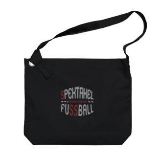 spektakel fussball (黒) Big shoulder bags