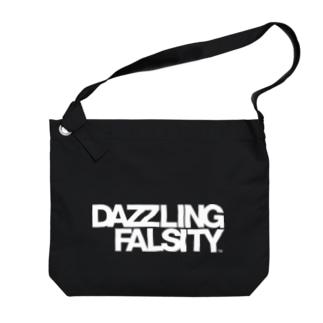 DAZZLING FALSITY タイポグラフィ Big shoulder bags