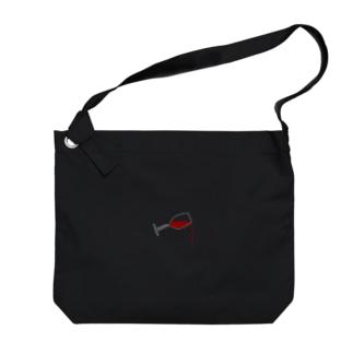 WINE_Black Big shoulder bags