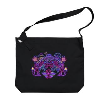 ジャパニーズネオン・カラフル Big shoulder bags