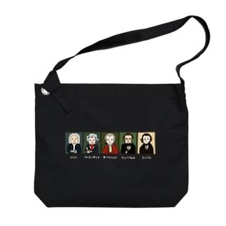 音楽室の肖像画 Big shoulder bags