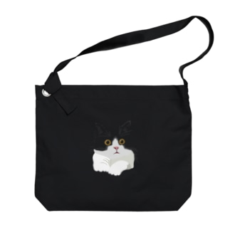 はちわれ猫 Big shoulder bags