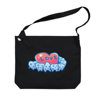 歯っちゃんのラブ Big shoulder bags