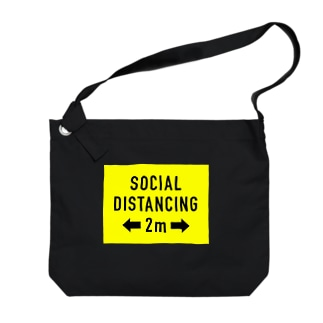 2mの SOCIAL  DISTANCING Big shoulder bags
