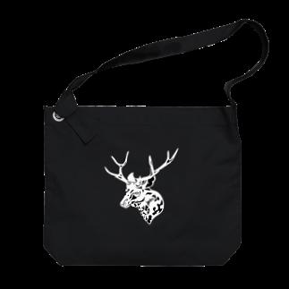 Hare nochi Kumori (HARE_KUMO)の二ホンジカ BLK Big shoulder bags