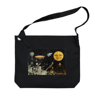 Guignolの「天体観測展・月世界旅行」 Big shoulder bags