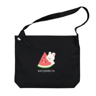 スイカとうさぎ Big shoulder bags
