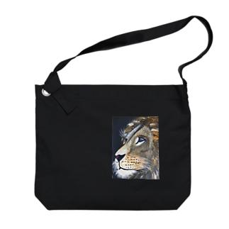 kiyoshisunのライオンのまっちん Big shoulder bags