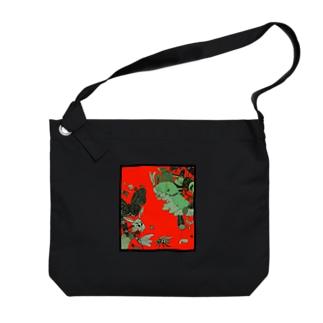 虫柄 Big shoulder bags