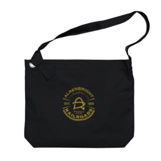 Railroads エンブレムロゴ 黄色 Big shoulder bags