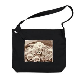 ねこラーメン🍜 Big shoulder bags
