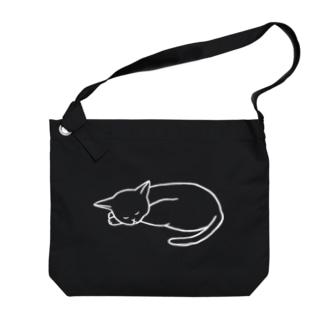 眠る猫 Big shoulder bags