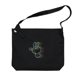 まんまるウサギ ver.WhiteRainbow Big shoulder bags