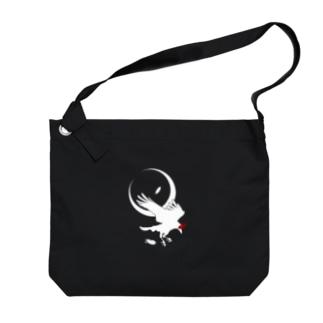ESCHATOLOGYのレイヴン・ホワイト/三日月 Big shoulder bags