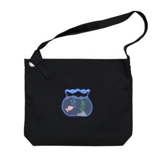 雑穀🌽林檎豆🍎の金魚鉢 Big shoulder bags
